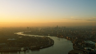 London seen through a haze of smog