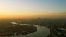 London seen through a haze of smog