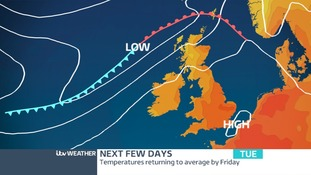 High Pressure keeping the weather dry and sunny over the next 48 hours