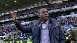 Muamba waves to the crowd
