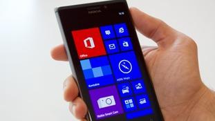A Nokia Lumia 925 handset.