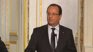 Francois Hollande said France would not act alone in Syria.