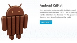 A still of the Android KitKat announcement.