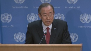 UN chief Ban Ki-moon: 'US attack could unleash more turmoil'