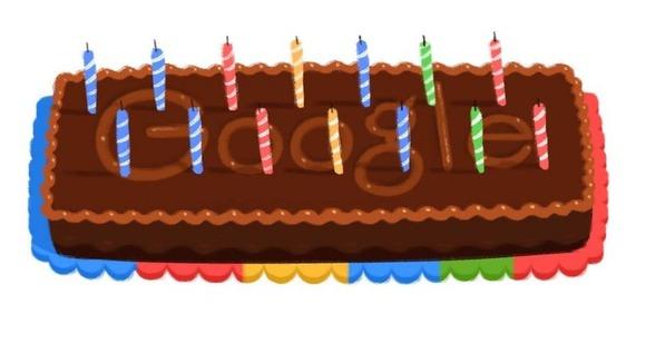 Google celebrou o seu 14 º aniversário com um bolo em sua página inicial do motor de busca