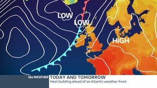 Low Pressure moving in from the north will bring unsettled weather for Friday