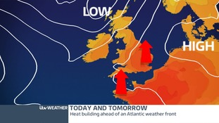 High Pressure from Europe will keep it warm and dry today and tomorrow