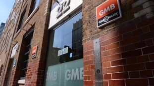 The GMB union's headquarters in Euston, London.