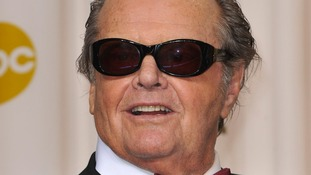 Jack Nicholson pictured at the Oscars in February this year.