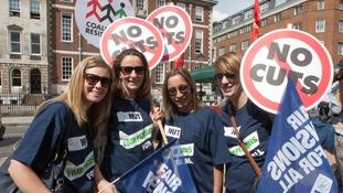 Teachers on strike in London