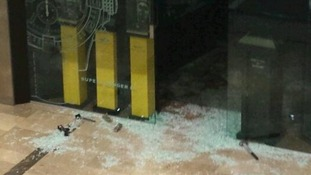 Axes and hammers seen on the ground of the attempted robbery in Westfield