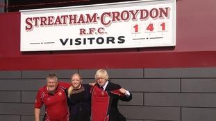 Boris Johnson at Streatham-Croydon Rugby Club