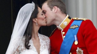 The Duke and Duchess of Cambridge on their wedding day.