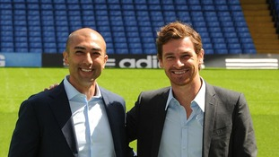 Roberto Di Matteo (left) with Andre Villas-Boas