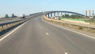 Road cleared after Kent pile-up.