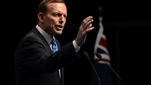 Tony Abbott speaks during its election campaign launch in Brisbane.