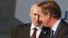 Russian President Vladimir Putin held late-night talks with the Prime Minister on Thursday
