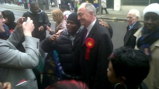 London mayor race: Ken Livingstone posing for photos in Peckham