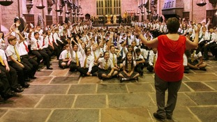 Year 7 pupils from Queens school in Watford