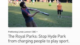 Petition against the Hyde Park charges