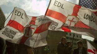 Members of the EDL seen at a previous demonstration