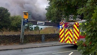 Ten fire engines are said to be at the scene of the fire.