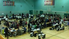 Votes being counted in Wrexham