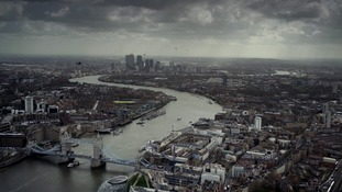 SWARM: Helicopters make their way across London and, like boats, use the river for navigation