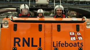 RNLI: Keith Cima, Kevin Maynard and Jude McGrane work for the RNLI