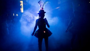 A performer at the Night Carnival last year