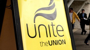 A Unite the Union sign.