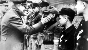 One of the last pictures taken of Adolf Hitler.