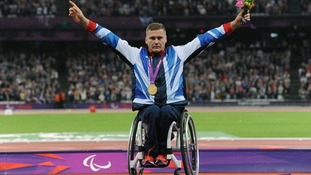 David Weir picks up gold at the Paralympics
