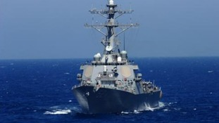 The United States currently has five guided missile destroyers in the eastern Mediterranean Sea.
