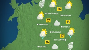 Sunday afternoon will be a general mix of sun and showers