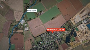 Hadrian Drive, Baston, Lincolnshire, where the body of a newborn baby boy was found on Thursday