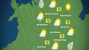 Tomorrow morning will be mainly dry and quite bright