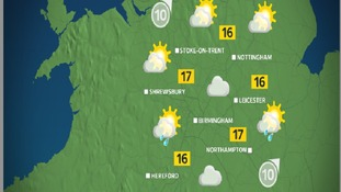 The afternoon will be a general mix of sun and showers