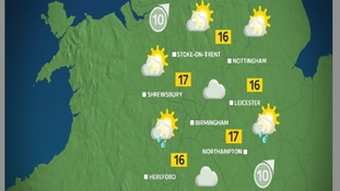 By the afternoon there will be a general mix of sun and showers