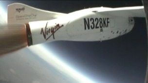 Virgin Galactic launches test flight for space tourism.