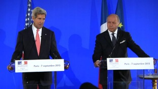 John Kerry has said that President Obama has made no decision on waiting for the UN inspectors report.