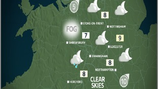 Tonight will see showers ease off, but it will be chilly with some mist