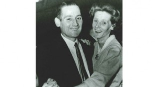 Happier times: George and his wife Betty, who died in 1997 never knowing who killed her husband
