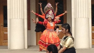 Dancing from Sampad Arts was just one of the performances taking place in Birmingham today