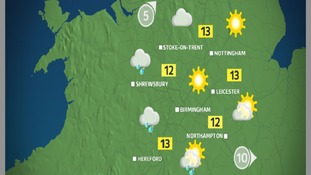 Monday will start out cloudy and damp, but sunnier further east