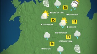 By the afternoon it will be generally cloudy with some rain on and off