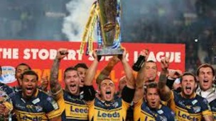 The Leeds Rhinos celebrate winning last year's Grand Final