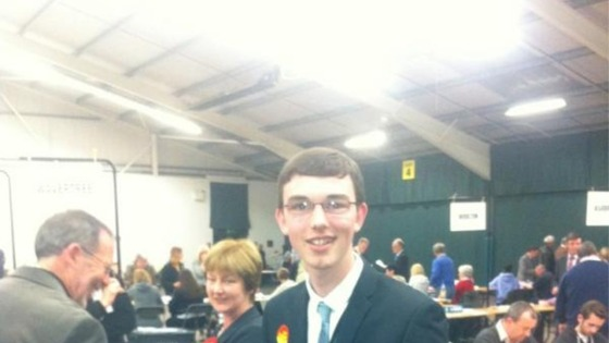Liverpool&#x27;s youngest Councillor Jake Morrison is still smiling - but then, this is the spot where he defeated the Lib Dem leader last year.