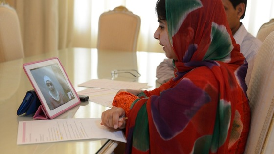Malala Yousafzai spoke to twin Syrian girls in Lebanon via Skype to offer them hope.