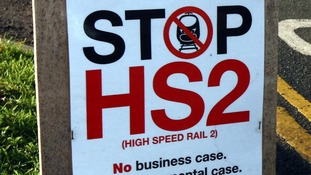 Poster as part of the campaign to stop the HS2 project